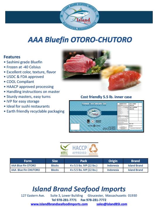 Island Brand Seafood - AAA Buefin Otoro-Chutoro